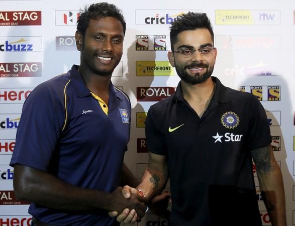 Angelo Mathews Sri Lanka Virat Kohli India