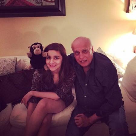 Alia with father Mahesh Bhatt