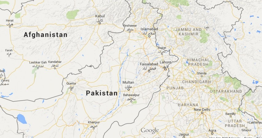 India pakistan Afghanistan map