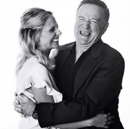 Sarah Michelle Geller and Robin Williams