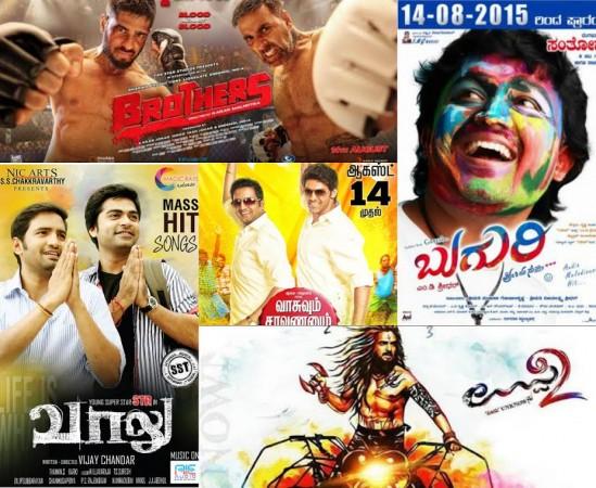 It's 'Uppi 2' vs. 'Brothers' vs. 'Vaalu' vs. 'Buguri' vs. 'Vasuvum Saravananum Onna Padichavanga' in Bengaluru