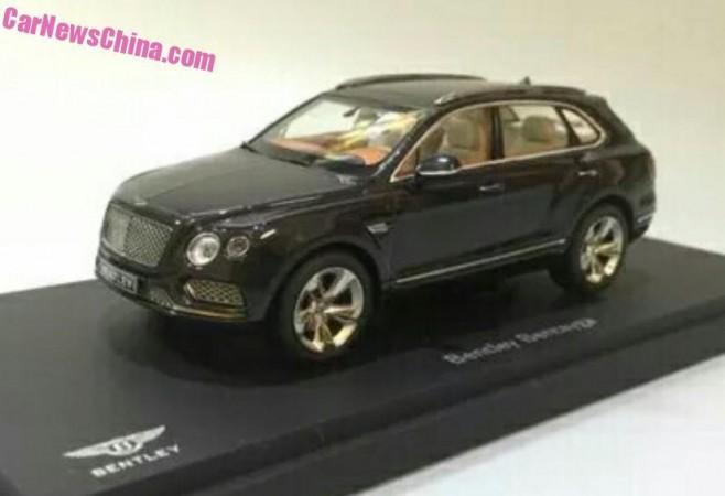 Bentley Bentayga scale model