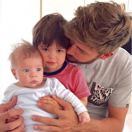 Grard Pique with his Two SOns