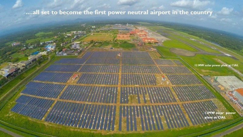 CIAL to become India's first solar powered aiport