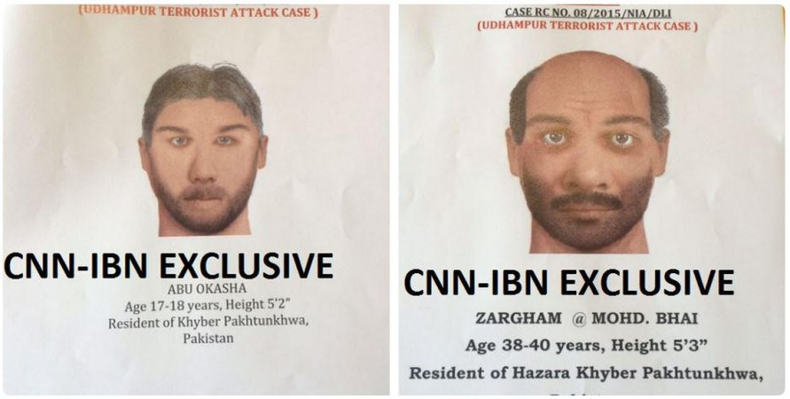 NIA Releases Sketches of 2 Pakistani Militants