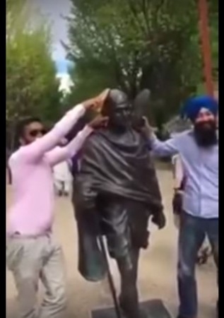 Mahatma Gandhi statue Canada