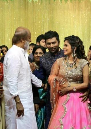 Rajinikanth at Shanthanu-Keerthi's Wedding Reception
