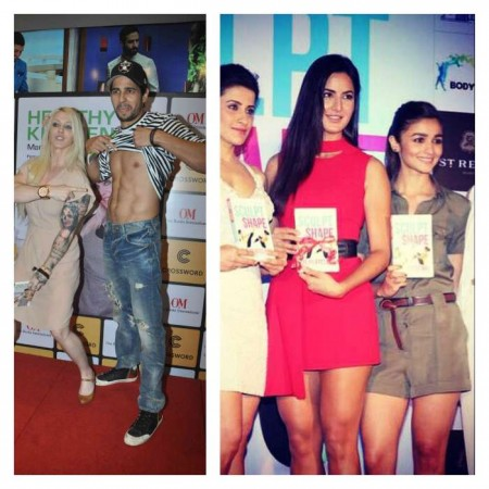 Sidharth Malhotra and Alia Bhatt at separate book launch