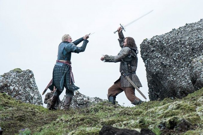 The Hound fighting with Brienne of Tarth