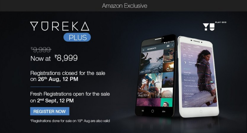 Rs 8,999 YU Yureka Plus Flash Sale: Lenovo K3 Note Rival To Go On Sale On Amazon.in At 12PM, 26 August
