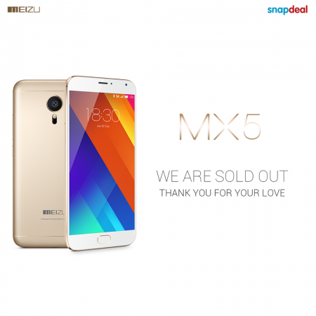 Meizu MX5 Sold Out On Snapdeal On Day One: When Will The Handset Be Available Again?