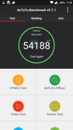 OnePlus 2 Antutu Benchmark Score