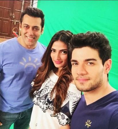 Salman Khan, Athiya Shetty, Sooraj Pancholi