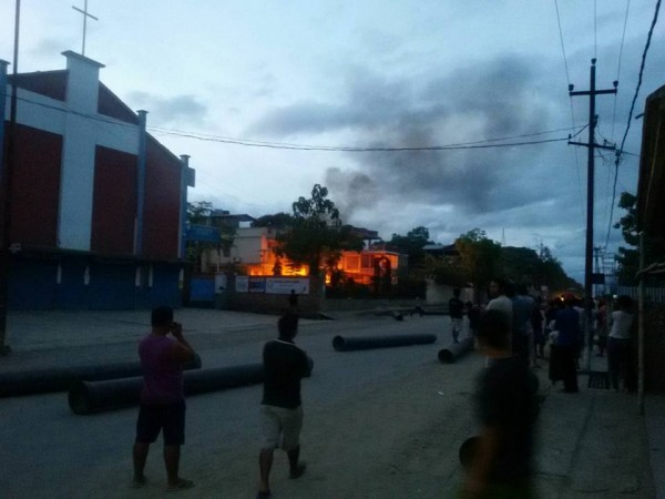 House of MLA set aflame in Manipur