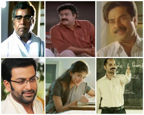 Best Teacher Roles in Malayalam films that you will never forget