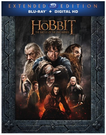 The Hobbit: The Battle of the Five Armies Extended Edition Blu-ray Cover