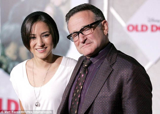 Zelda Williams with late Robin Williams