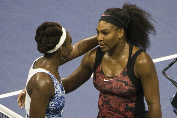 Venus Williams Serena Williams US Open 2015 Quarterfinals