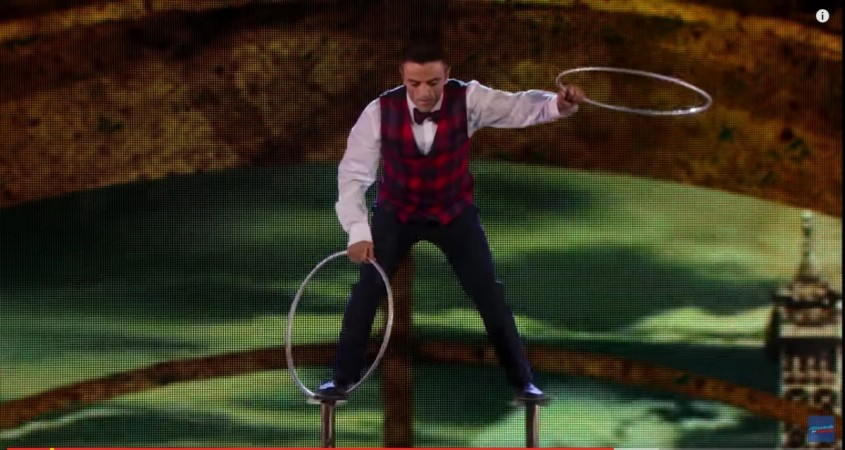 Uzeyer Novruzov tumbles on America's Got Talent 2015