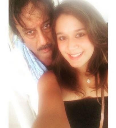 Jackie Shroff with Daughter Krishna Shroff