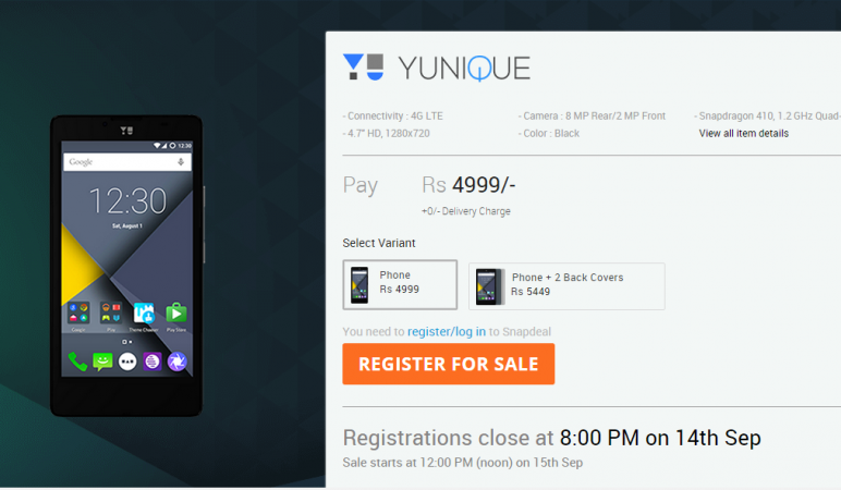 YU Yunique First Impression: Serious Consideration For A Sub-₹5,000 Smartphone