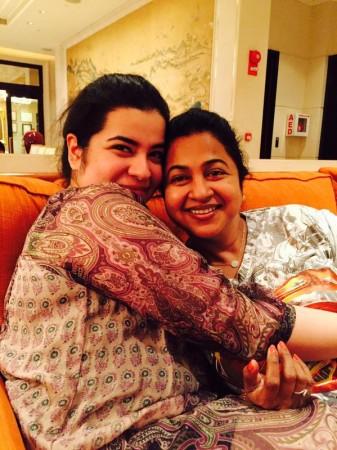 Raadhika Sarathkumar with Her Daughter Rayane