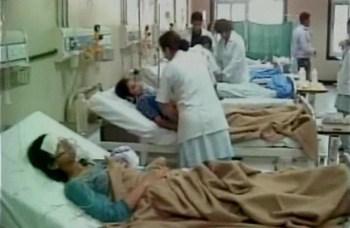 Girls hospitalised after police lobbed tear gas shells into college hostel.