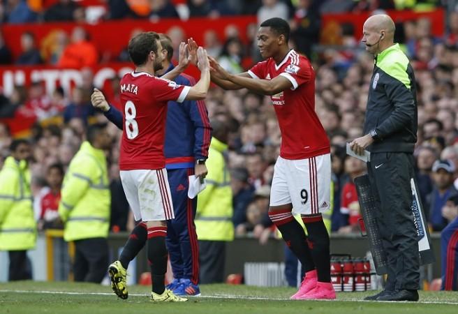Juan Mata Anthony Martial Manchester United Lee Mason
