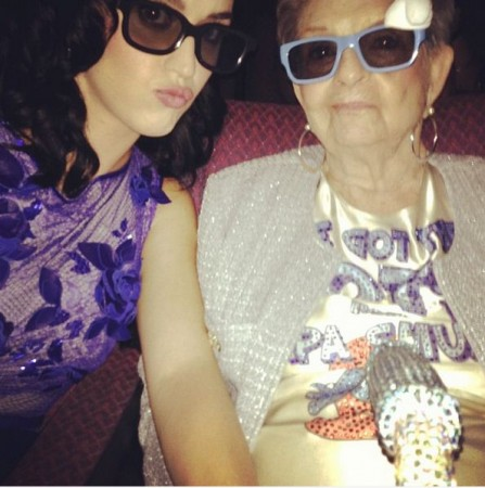 Katy Perry with her grandmother