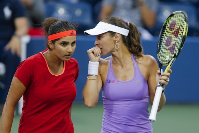 Sania Mirza Martina Hingis US Open 2015