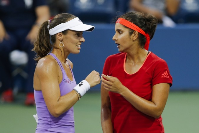 Sania Mirza  and Martina Hingis