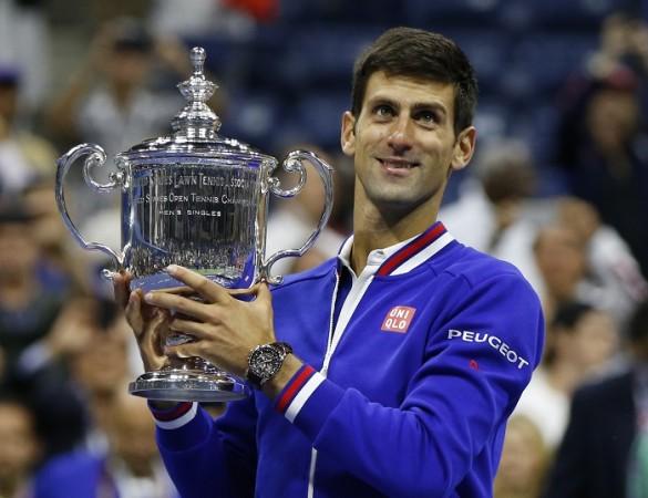Novak Djokovic US Open 2015 Trophy Final Roger Federer