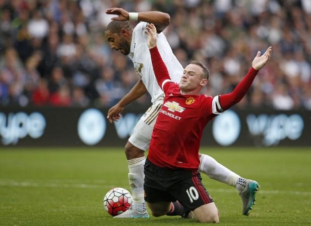 Wayne Rooney Manchester United Ashley Williams Swansea City