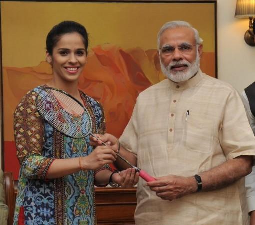Modi with Saina Nehwal