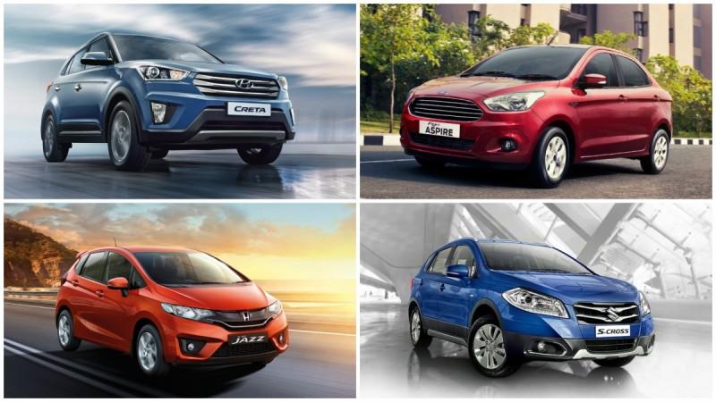 Hyundai Creta, Ford Aspire, Maruti S Cross, Honda Jazz