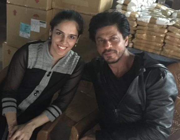 Shah Rukh Khan, Saina Nehwal in Hyderabad
