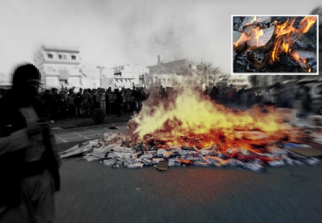Isis Mosul Book burning