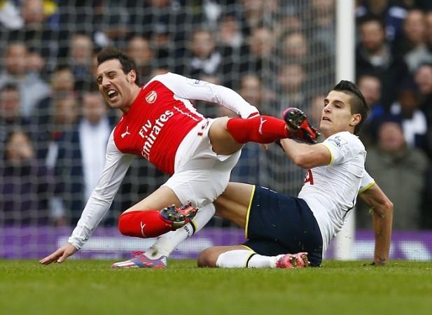 Santi Cazorla Arsenal Erik Lamela Tottenham