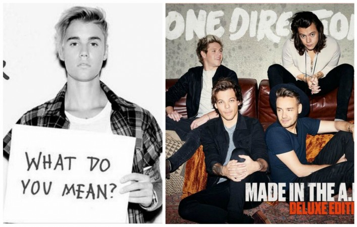 Justin Bieber and One Direction