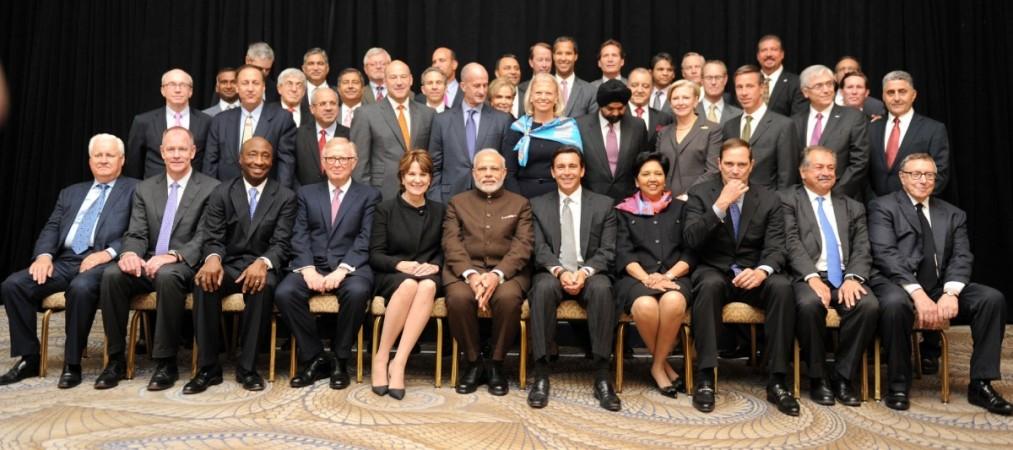 Modi with top CEOs