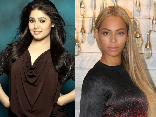 Sunidhi Chauhan and Beyonce