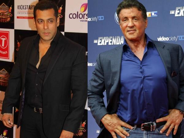 Salman Khan and Sylvester Stallone
