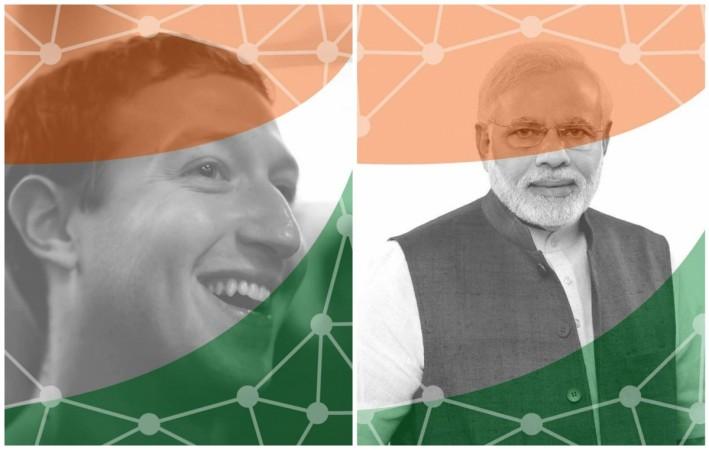 Mark Zuckerberg and Narendra Modi