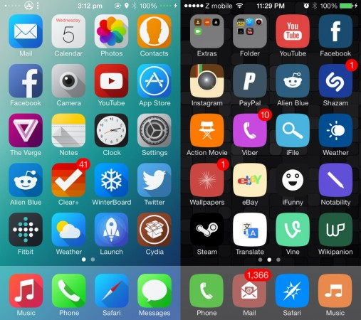 Top 6 free cydia winterboard themes you must try on your iPhone and iPod Touch