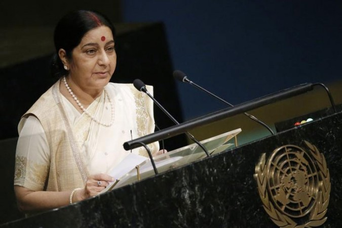Sushma Swaraj during UN General Assembly