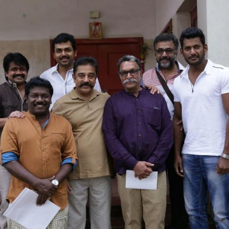 Kamal Haasan with Pandavar Ani team