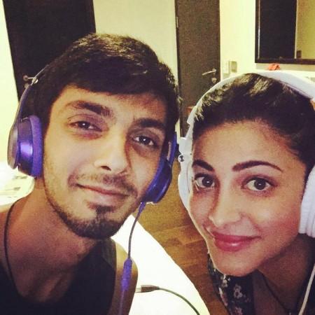 Anirudh with Shruti Haasan