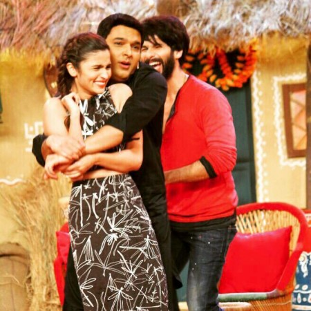 Shahid Kapoor, Alia Bhatt at Kapil Sharma's show 'Comedy Nights With Kapil'