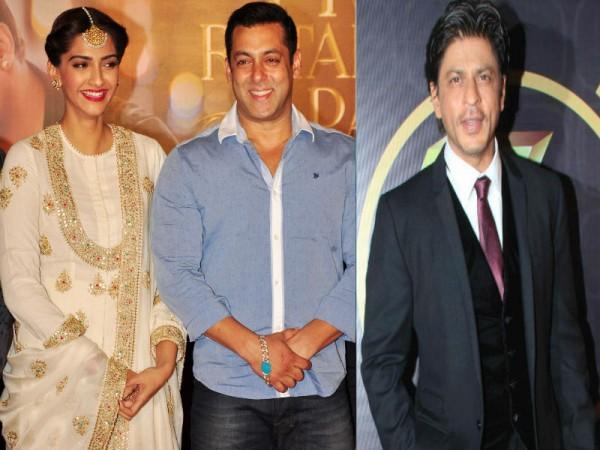 Salman Khan, Sonam Kapoor and Shah Rukh Khan