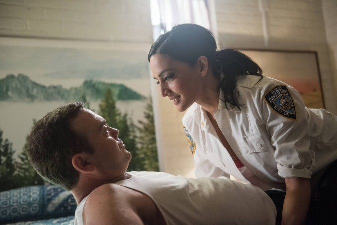 Boyle and his new love interest played by Archie Panjabi in 'Brooklyn Nine-Nine'